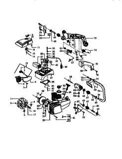 POULAN Chain saw Model2300 cva type i&ii model2350 Parts