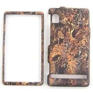Motorola Droid A855   Camo/Camouflage Hunter Dry Leaf   Hard Case