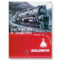 Baldwin Locomotive S 2 Steam Turbine Locomotive Post Card by stanrail
