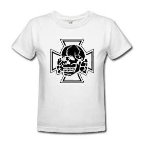 totenkopf skull ss germany hitler nazi t shirt  wumbo