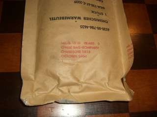 Vintage Military Surplus Chemical Heat Bag Hand Warmers