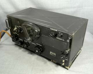 AIRBORNE MILITARY AIRPLANE AMATEUR TUBE RADIO RECEIVER BC 348N
