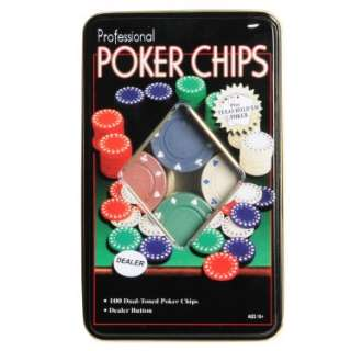 100 Piece Professional Poker Chip Set   Costumes, 66175