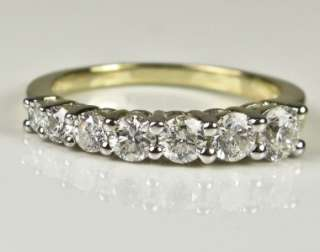 3899 High End 14k Gold 1.10ctw G SI2 Genuine Diamond Journey Ring 3