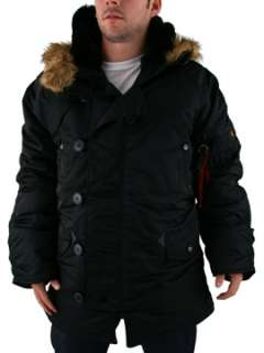 Alpha Industries N3B Parka Jacket   Black   ALP100106BLK18