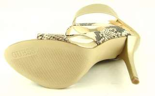 GUESS PALERY Gold Multi Womens Cork Wedges Thong Sandals 10