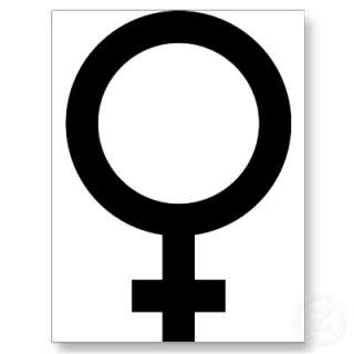 Femal   Woman   Women Sign Post Card from Zazzle