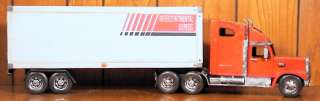 Red Semi Truck w/ Trailer 18 Wheeler Collectible Metal