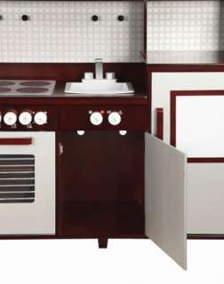 New Guidecraft Childrens Kids Wooden All in One Modern Kitchen