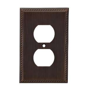 allen + roth Oil Rubbed Bronze Standard Duplex Receptacle Wall Plate