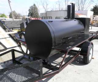 12 Competition BBQ Trailer w/ Warming Box Two Sided Grill
