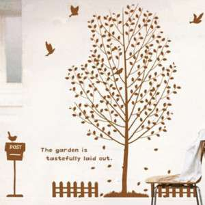 Happy Big Tree Adhesive WALL STICKER Removable Decal