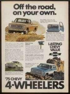 1975 Chevrolet Blazer Suburban pickup truck photo ad