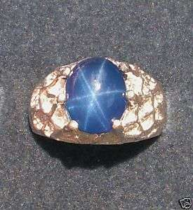 MENS LINDE LINDY TRANSPARENT TWILITE BLUE STAR SAPPHIRE CREATED SS