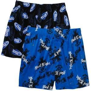 Bud Light   Mens Knit Boxer Shorts, 2 Pack Men