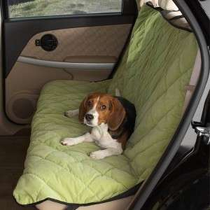 Companion Pet Dog Quilted Car Seat Cover Apple Green