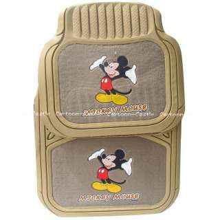 Mickey Mouse Auto Car Floor Mat Carpet Brown 5pcs