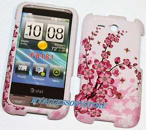 AT&T HTC Freestyle Cherry Blossom Sakura Flowers Snap On Hard Phone
