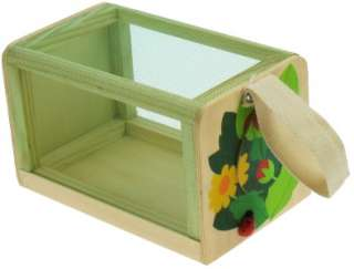Large Childrens Colourful Wooden BUG BOX Garden Toy