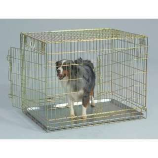 General Cage Two Door Gold Wire Dog Crate Dogs