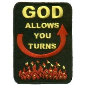 : God Allows You Turns Cool Christian Biker Patch!!!: Everything Else