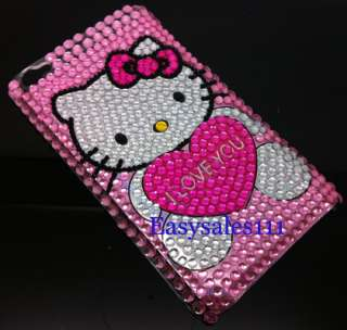 Touch 4 4th 4G Hello Kitty Bling Diamond Case Crystal Rhinestone Cover