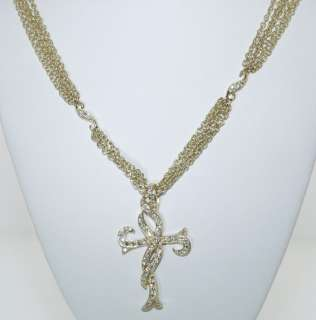 DORIS PANOS 18 KT. GOLD AND DIAMOND CROSS NECKLACE WOW