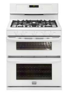 NEW Frigidaire White Double Oven Natural Gas Range FGGF304DLW