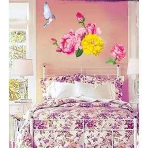 FLOWER & BIRD Decor Mural Sticker Wall Paper CP 036A
