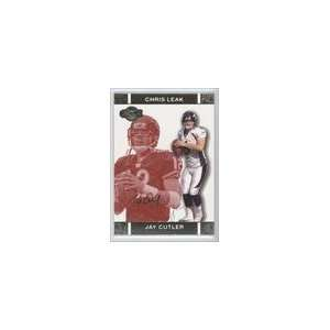 Faces Gold Red #9B   Jay Cutler/Chris Leak/399 Sports Collectibles