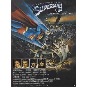 Superman 2 (1981) 27 x 40 Movie Poster French Style A