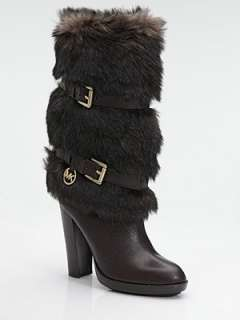 MICHAEL MICHAEL KORS   Carly Faux Fur & Leather Boots
