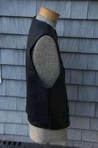 Mens Black Leather Motorcycle/Biker Vest