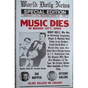 Poster Buddy Holly,Big Bopper and Ritchie Valens