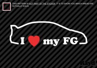 Love my FG Sticker Decal Die Cut Vinyl #2