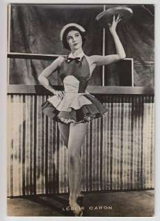 OLD POSTCARD FRENCH FILM ACTRESS DANCER LESLIE CARON x