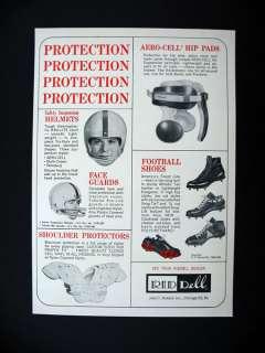 Riddell Football Helmets Shoulder Hip Pads Cleats 1963 print Ad