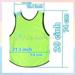 ADULT/Youth Mesh Scrimmage Jersey Vest Soccer Training