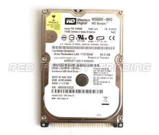 Digital Scorpio 60GB IDE Ultra ATA Hard Drive WD600VE 08HD 5400
