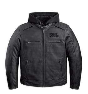 HARLEY DAVIDSON Mens Leather Jacket, 97094 12VM