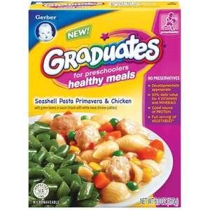 Gerber Graduates Healthy Meals Seashell Pasta Primavera