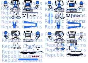 Lego Star Wars Custom Clone 501st Decal 2 Collection