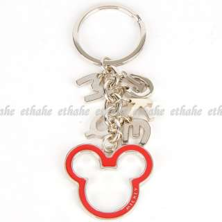 Mickey Mouse Letter Keychain Key Chain Ring Red E1G17M