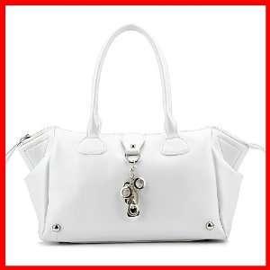 Shoulder Bag Handbag Satchel Love Heart Charm Fashion White 1170128