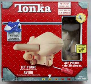 Tonka Wood Wooden Model Kit   JET PLANE (30+ pieces /Level 2) w