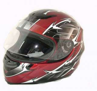 FULL FACE HELMET MOTORCYCLE DOT ON ROAD S