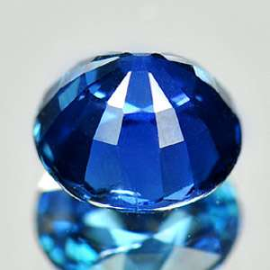 66 Ct. Certified Natural Gemstone Blue Sapphire Round Cutting