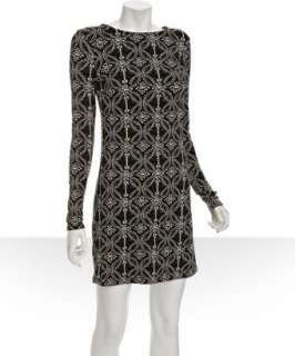 JB by Julie Brown black pearls print jersey Morgan dress