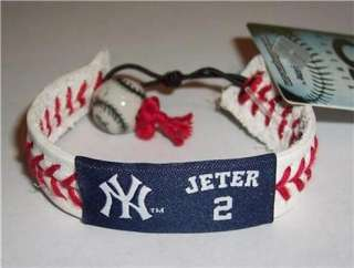 DEREK JETER NEW YORK YANKEES LOGO MLB LICENSED WRIST BAND BRACELET
