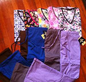 New Nursing Scrub Tops and Pants, Make Your Own Set Sizes XS, S, M